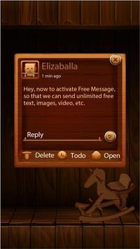 GO SMS PRO WOODEN THEME apk screenshot