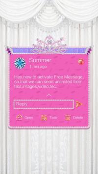 GO SMS PRO ANGEL TEARS THEME apk screenshot