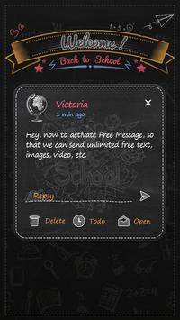 GO SMS BACK TO SCHOOL THEME screenshot 3