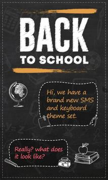 GO SMS BACK TO SCHOOL THEME poster