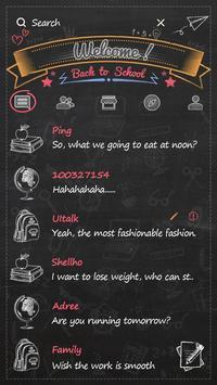 GO SMS BACK TO SCHOOL THEME screenshot 1