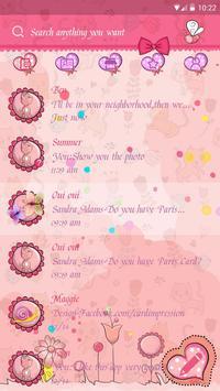 GO SMS CUTE CAT THEME screenshot 1
