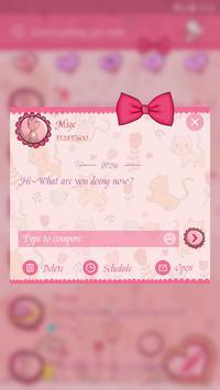 GO SMS CUTE CAT THEME screenshot 3