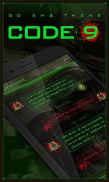 GO SMS PRO CODE 9 THEME poster