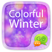 GO SMS COLORFUL WINTER THEME icon
