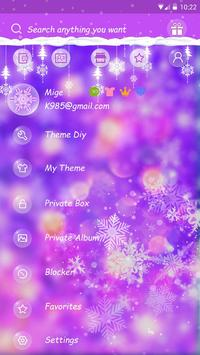 GO SMS COLORFUL WINTER THEME screenshot 4