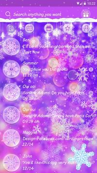GO SMS COLORFUL WINTER THEME screenshot 1
