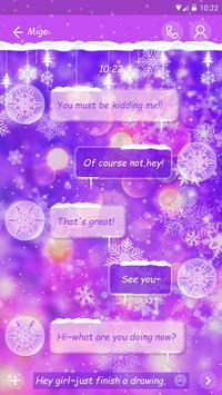 GO SMS COLORFUL WINTER THEME screenshot 2