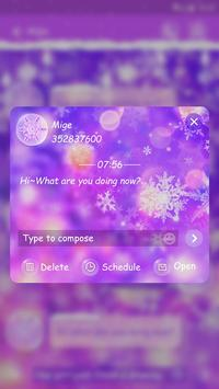 GO SMS COLORFUL WINTER THEME screenshot 3