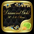 GO SMS DIAMOND GOLD THEME