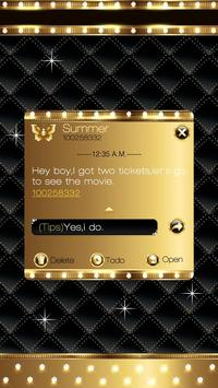 GO SMS PRO GOLD THEME screenshot 3