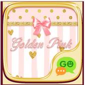 GO SMS GOLDEN PINK THEME icon
