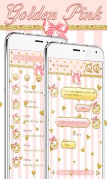 GO SMS GOLDEN PINK THEME poster