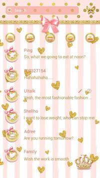GO SMS GOLDEN PINK THEME apk screenshot