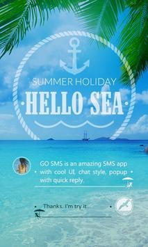 GO SMS PRO HELLO SEA THEME poster