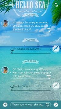 GO SMS PRO HELLO SEA THEME screenshot 2