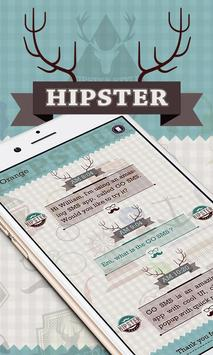 GO SMS PRO HIPSTER THEME poster