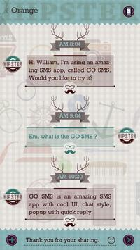 GO SMS PRO HIPSTER THEME screenshot 2