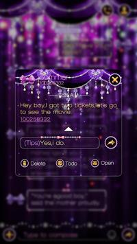 GO SMS PURPLE BOWKNOT THEME screenshot 3