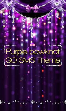 GO SMS PURPLE BOWKNOT THEME poster