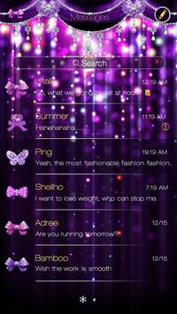 GO SMS PURPLE BOWKNOT THEME screenshot 1