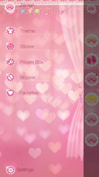 GO SMS PRO PINK HOUSE THEME apk screenshot