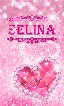 GO SMS SELINA THEME poster