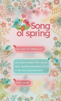 GO SMS SONG OF SPRING THEME poster