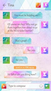 GO SMS PRO TRENDY THEME apk screenshot