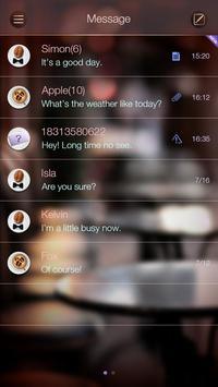 GO SMS LAZY DAY THEME apk screenshot