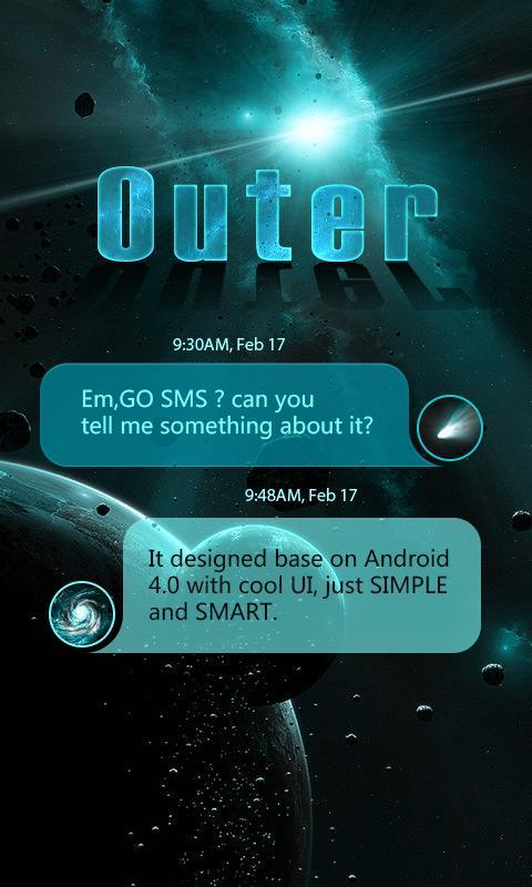 go sms pro outer theme ex for android apk download