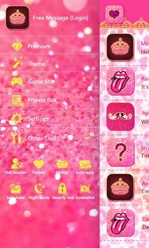 GO SMS PINKY GIRL THEME apk screenshot