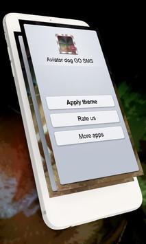 Aviator dog GO SMS apk screenshot