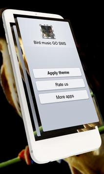 Bird music GO SMS poster