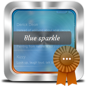 Blue sparkle GO SMS icon
