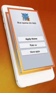 Blue sparkle GO SMS poster