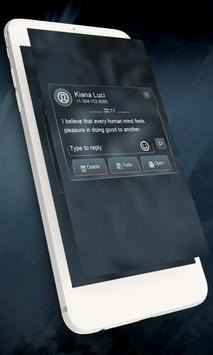 Blue twist GO SMS apk screenshot