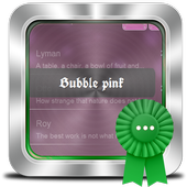 Bubble pink GO SMS icon