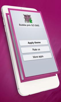 Bubble pink GO SMS poster