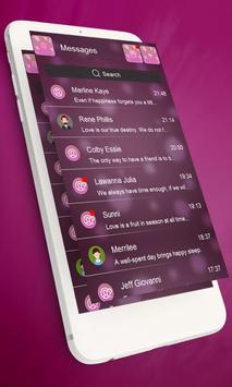 Bubble pink GO SMS apk screenshot