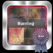 Burning GO SMS icon