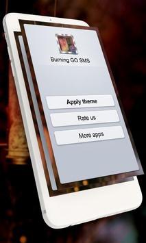 Burning GO SMS poster