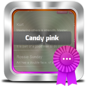 Candy pink GO SMS icon