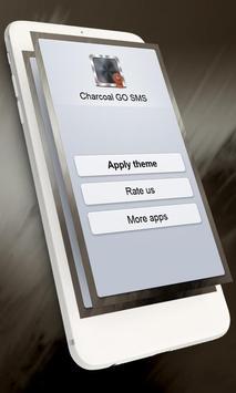 Charcoal GO SMS apk screenshot