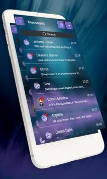 Chic blue GO SMS apk screenshot