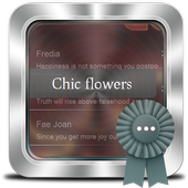 Chic flowers GO SMS icon