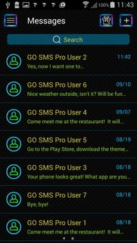 Neon Colors SMS Theme screenshot 1