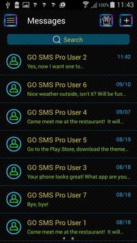 Neon Colors SMS Theme apk screenshot