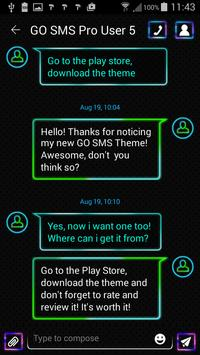 Neon Colors SMS Theme screenshot 2