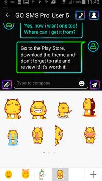 Neon Colors SMS Theme screenshot 3